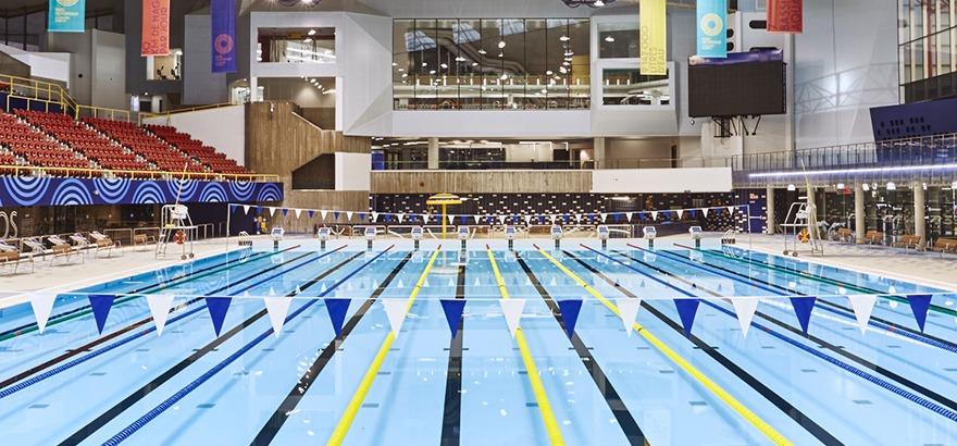 Accueil centre sportif du parc olympique for Piscine olympique