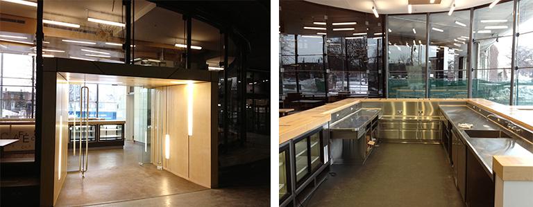 Espace qui était occupé par le Café In Vivo